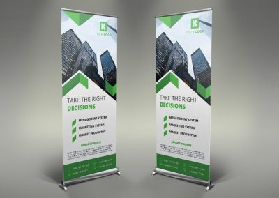 005 - Corporate Roll Up Banner