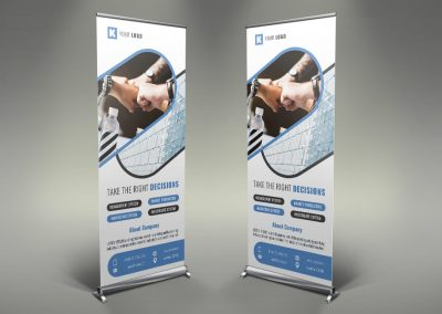006 - Corporate Roll Up Banner