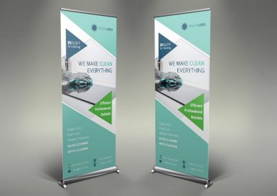 009 - Cleaning Services Roll Up Banner