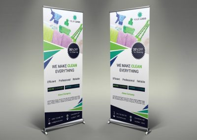 010 - Cleaning Services Roll Up Banner