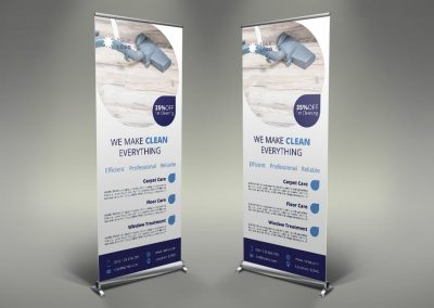011 - Cleaning Services Roll Up Banner