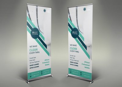 012 - Cleaning Services Roll Up Banner
