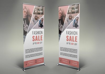 013 - Women's Clothing Roll Up Banner