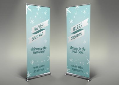 018 - Merry Christmas Roll Up Banner