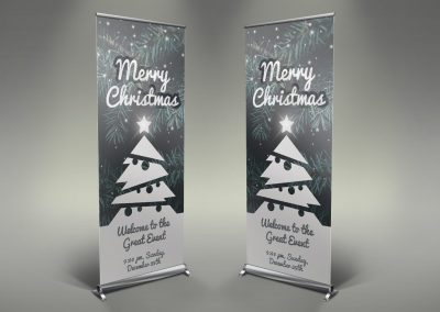 020 - Merry Christmas Roll Up Banner