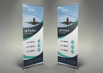 023 - Airline Roll Up Banner