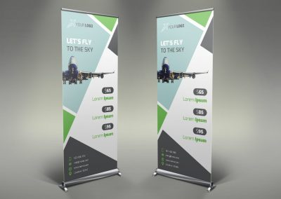 024 - Airline Roll Up Banner