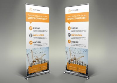 025 - Construction Roll Up Banner