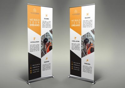 026 - Construction Roll Up Banner
