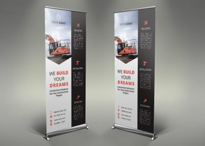 027 - Construction Roll Up Banner