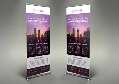028 - Construction Roll Up Banner