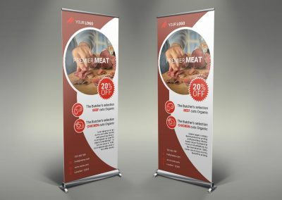 030 - Meat Shop Roll Up Banner