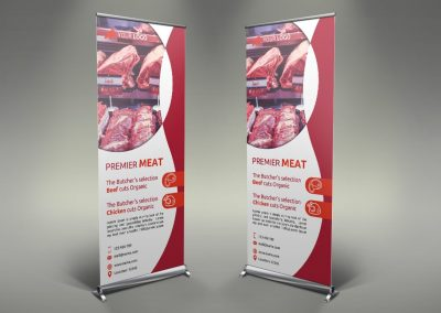 031 - Meat Shop Roll Up Banner
