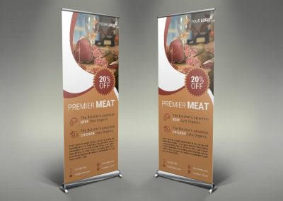 032 - Meat Shop Roll Up Banner