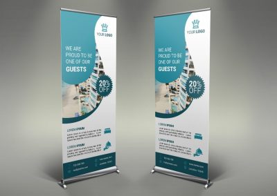 033 - Hotel App Holiday Rental Roll Up Banner