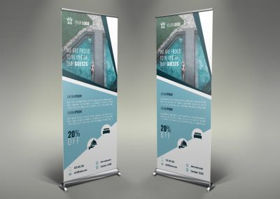 034 - Hotel App Holiday Rental Roll Up Banner