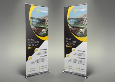035 - Hotel App Holiday Rental Roll Up Banner
