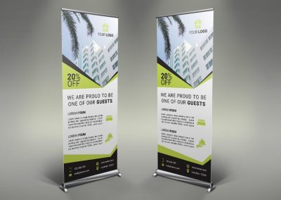 036 - Hotel App Holiday Rental Roll Up Banner