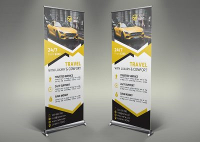 045 - Rent a Car Roll Up Banner