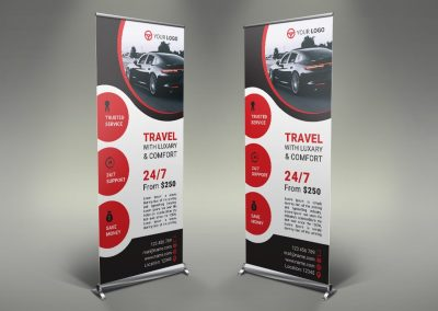 046 - Rent a Car Roll Up Banner