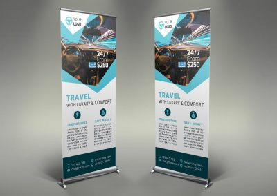 047 - Rent a Car Roll Up Banner