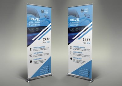 048 - Rent a Car Roll Up Banner