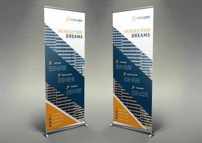049 - Construction Roll Up Banner