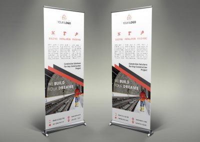 050 - Construction Roll Up Banner