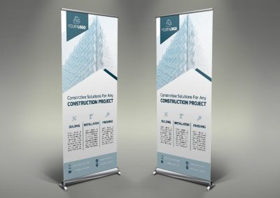 051 - Construction Roll Up Banner