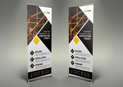 052 - Construction Roll Up Banner