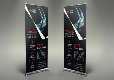 062 - Rent a Car Roll Up Banner