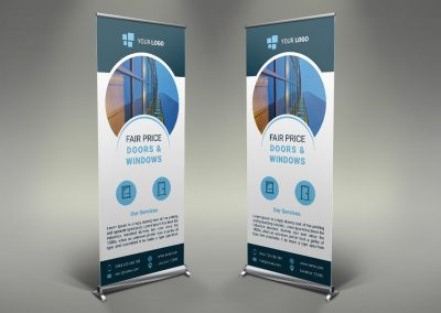 082 - Doors & Windows Roll Up Banner