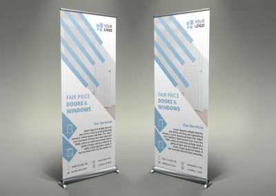 083 - Doors & Windows Roll Up Banner