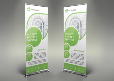 084 - Doors & Windows Roll Up Banner