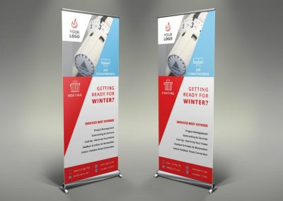 085 - Heating Services Roll Up Banner