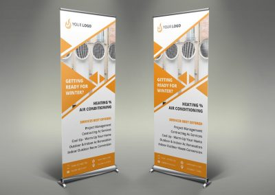 087 - Heating Services Roll Up Banner