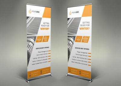 088 - Heating Services Roll Up Banner