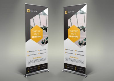 098 - Corporate Roll Up Banner