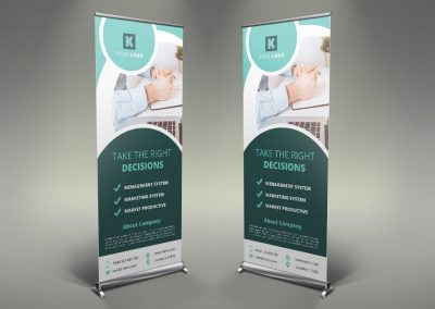 100 - Corporate Roll Up Banner