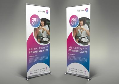 106 - Communication Roll Up Banner