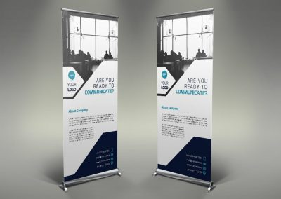 107 - Communication Roll Up Banner