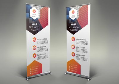 111 - Business Roll Up Banner